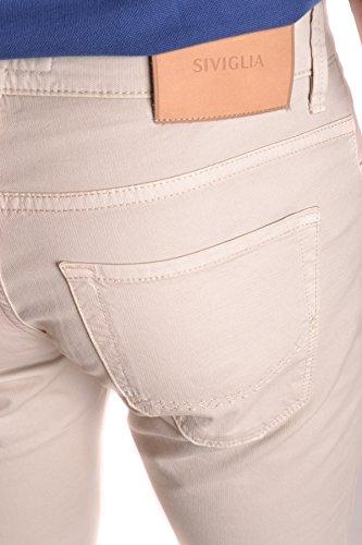Siviglia Herren MCBI278024O Beige Baumwolle Jeans