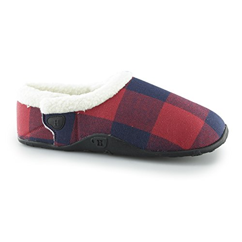 Homeys Oscar Slippers - Red Plaid Large