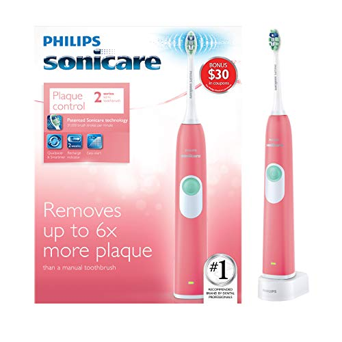 (Philips Sonicare Series 2 Rechargeable Toothbrush, Coral)
