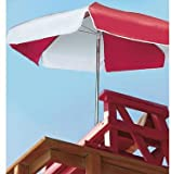 LIFEGUARD UMBRELLA – ULTRA WEATHER DURABLE – RED AND WHITE For Sale
