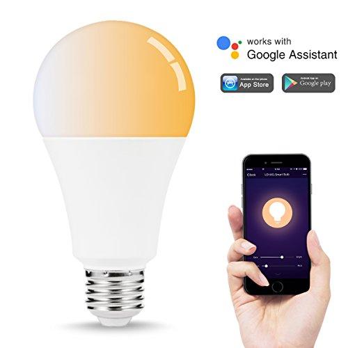 LOHAS A21 Smart LED Bulb, WiFi Control Light Bulbs 100W Equivalent(14W), Voice Control Bulbs, Tunable Warm Daylight Cool White, E26 Base, Smart Home Lighting Compatible with Alexa Google Assistan