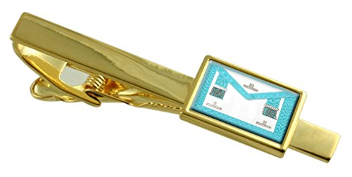 Select Gifts Masonic Craft Worshipful Master Regalia Apron Gold-Tone Tie Clip Engraved Message Box (Christmas Message Worshipful Master)