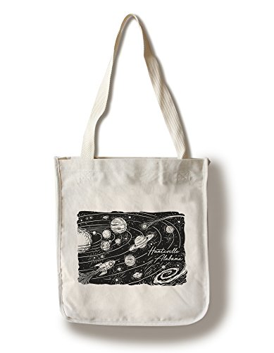 Huntsville, Alabama - Space Scene - Etching (100% Cotton Tote Bag - - Shopping Alabama Huntsville