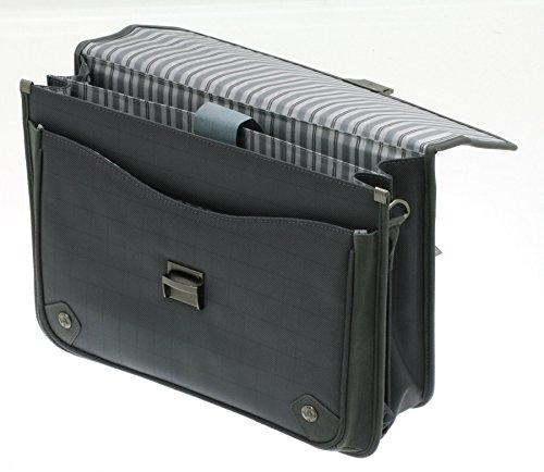 Davidts Aktentasche Flugumhänger Umhängetasche Business Laptoptasche Anthrazit 259 101 Bowatex