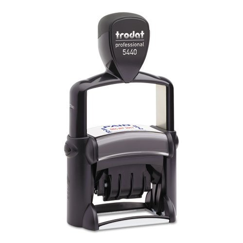 Trodat Professional Self-Inking 5-in-1 Receiving Messages/Date Stamp, Impression Size:1-1/8 X 2-Inch, Blue/Red (T5444)