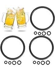 Beer Gaskets, 15PCS Keg Gasket Silicone Good Sealing Performance Black Keg O Ring with 3 Siz