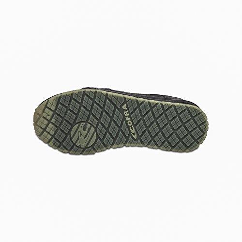 Cofra r Negro Piel l S hombre para negro Calzado de protección de qqSB6xrAn