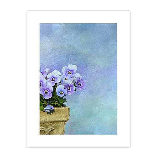 Purple Pansy Flowers Painting Canvas Wall Art Print ()