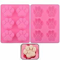 Molde para hornear de silicona de grado alimenticio antiadherente, pata de perro, molde para hornear, para la acción de gracias