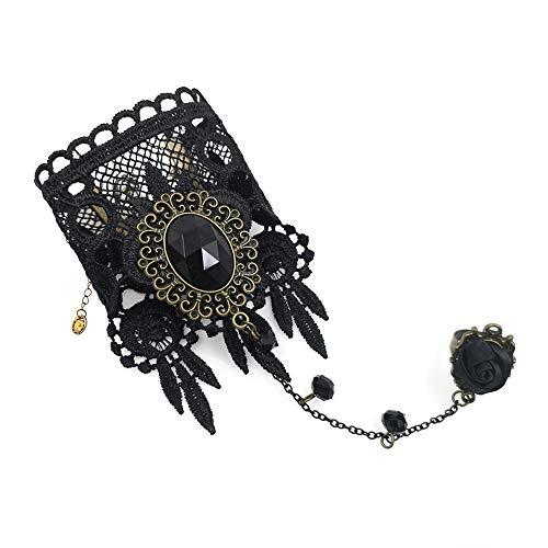 Eternity J. Elegant Vintage Princess Lace Gothic Victorian Lolita Ring Bracelet Costume Jewelry (Bracelet-1)