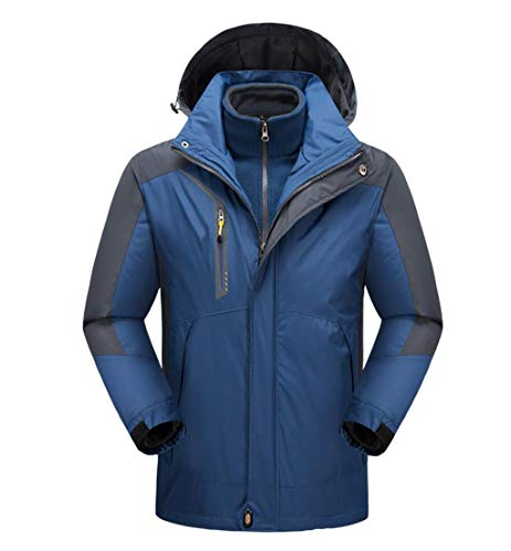 Jacket Fleece Dark Windproof Liner Men's Waterproof Blue Mountaineering Warm Clothing 4qTf64w