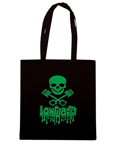 T-Shirtshock - Bolsa para la compra WC0478 lowgrader skull and pistons 2 Negro