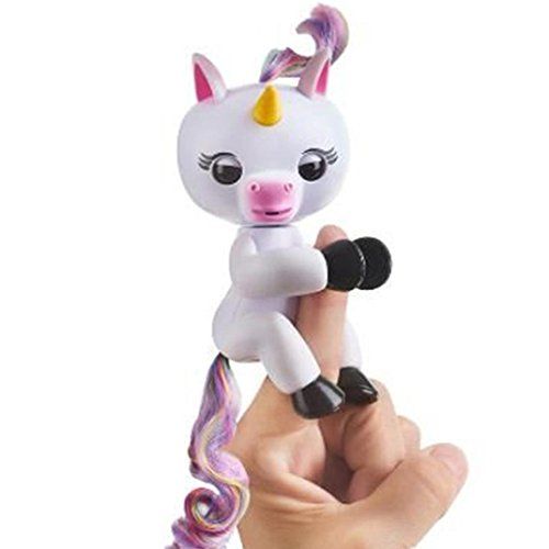 Price comparison product image Fingerlings - Interactive Baby Unicorn - By WowWee Vicwork Puppet, Grigio Pet Toys (White)