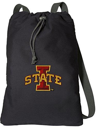 (Broad Bay Iowa State Drawstring Backpack Rich Canvas ISU Cyclones Cinch Bag)