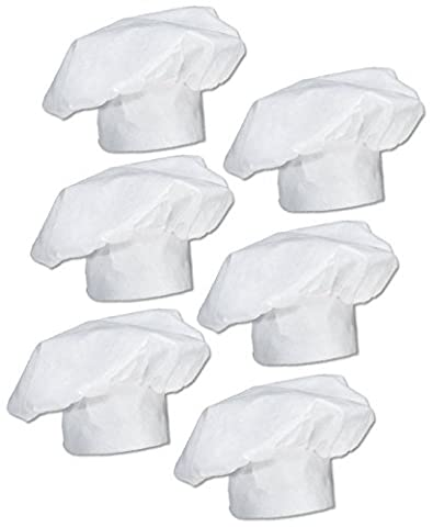 Kids Chefs Hat Dress-up, Baking Hat Expandable (6 count) - Childrens Chef Hat