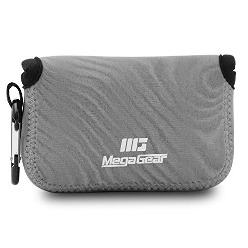 MegaGear MG593 Ultra Light Neoprene Camera Case compatible with Olympus Tough TG-5, Sony Cyber-shot DSC-RX100 VI, DSC-RX100 V, DSC-RX100 IV, Olympus Tough TG-4 - Gray