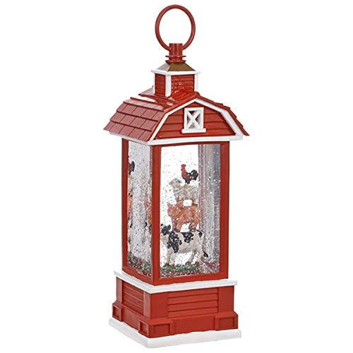 (Farm Animal Lighted Water Barn 11 1/2 Inch)