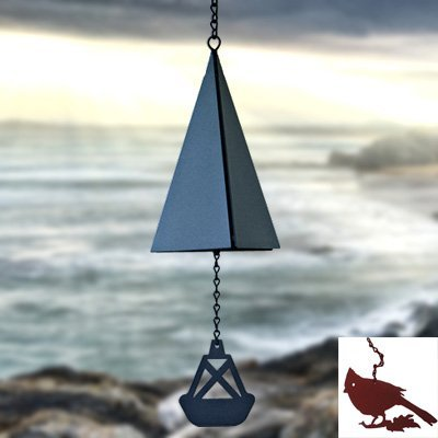 North Country Wind Bells Cape Cod Bell™ with Scallop Shell – 3 Tones