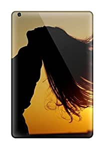 Brand New Mini/mini 2 Defender Case For Ipad (cool Sunset Photography Of Guy And Girl Hairs Flying With Air)