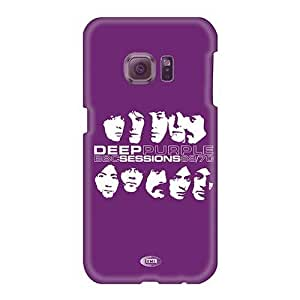 Bumper Hard Phone Cases For Samsung Galaxy S6 With Custom Colorful Deep Purple Band Pictures EricHowe