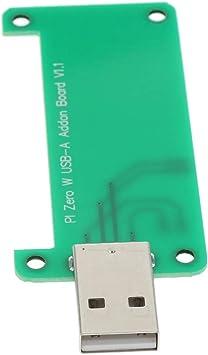 P Prettyia Raspberry Pi Zero W USB-A Addon Board con Estuche Protector Transparente: Amazon.es: Electrónica