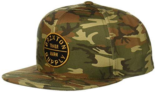 Brixton Men's Oath III Medium Profile Adjustable Snapback HAT, camo/Black, O/S -