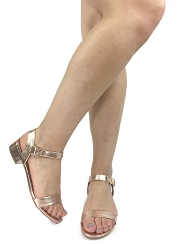 City Womens Sandals Rose Classified Gold City Casual Gladiator Classified Basic 0dwtqw