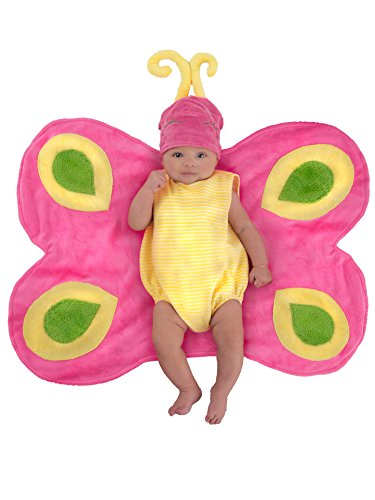 Princess Paradise Baby Swaddle Wings Drooly Drac Deluxe Costume, Butterfly Caterpillar, -