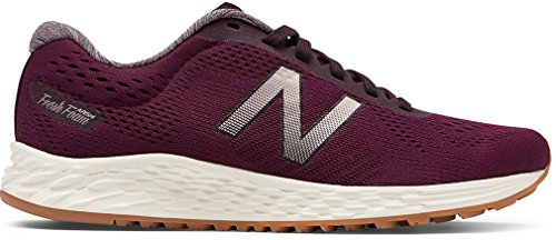 New Balance Women's Fresh Foam Arishi V1 Running Shoe Dark Mulberry/Black Rose