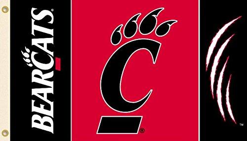 NCAA Cincinnati Bearcats 3-by-5 Foot Flag with Grommets (Cincinnati Bearcats Basketball)