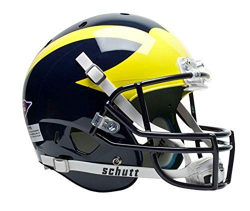 Schutt NCAA Michigan Wolverines Replica XP Football Helmet, Matte Alt. 2