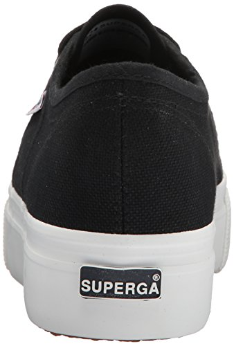 Superga Women's 2790 Acotw Platform Sneaker Fashion, Black/White, 35 M EU (5 US)