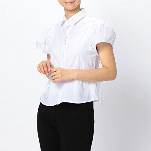 ビジョンオフェンス作るナラカミーチェ(NARACAMICIE) コットンタックフレア半袖シャツ【ホワイト/1(M)9号】