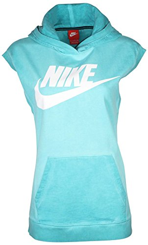 ess Sport Casual Pullover Hoodie-Turquoise-XL ()