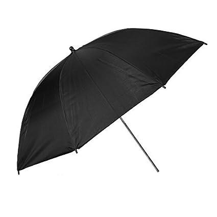 eDealMax Fotografía Retrato Foto Video Estudio Día Suave Paraguas Negro Luz