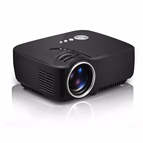 Naladoo 1200 Lumens 1080p Mini Video Projector with HDMI/USB/AV/SD/VGA Cube LED
