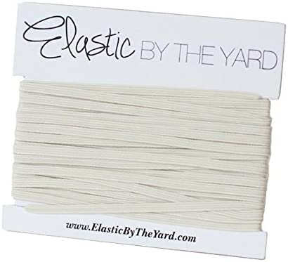ElasticByTheYard 5 Yards of Light Ivory 1//8 Skinny Elastic