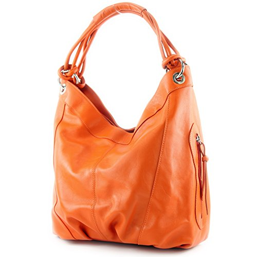 Orange ModaModa Choice Leather cm Bag Women's Orange Shoulder Colour Z18 Nappa 42x16x30 Large Italian xxqfH6U