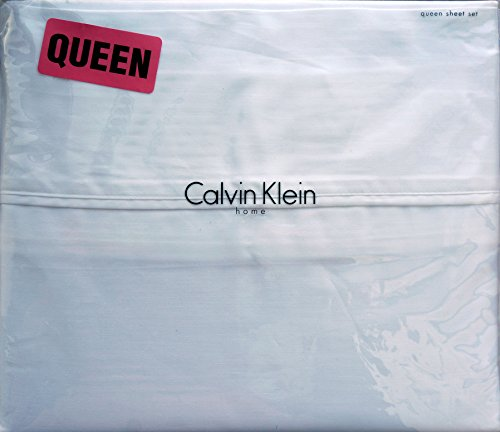 Calvin Klein 4pc QUEEN Sheet Set 100% Combed Cotton Sateen, Solid - Calvin Klein Sheets Queen