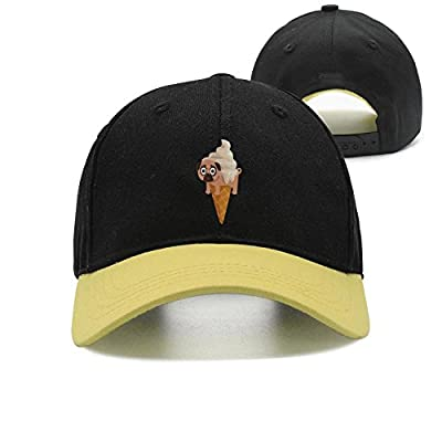 Trum Namii Unisex Trucker Hat Pug ice Cream Puppy Adjustable Snapback Baseball Cap
