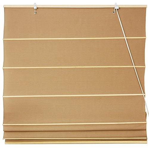 Oriental Furniture Cotton Roman Shades - Light Brown - (24 in. x 72 in.) ()
