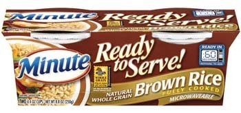 Minute Ready to Serve Natural Whole Grain Brown Rice 2 - 4.4 Oz Cups (Pack of 4)