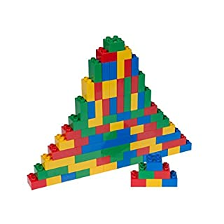 Strictly Briks - Big Briks Set - 84 Pieces - Blue, Green, Red, & Yellow - Compatible with All Major Brands - Large Building Blocks for Ages 3 and Up