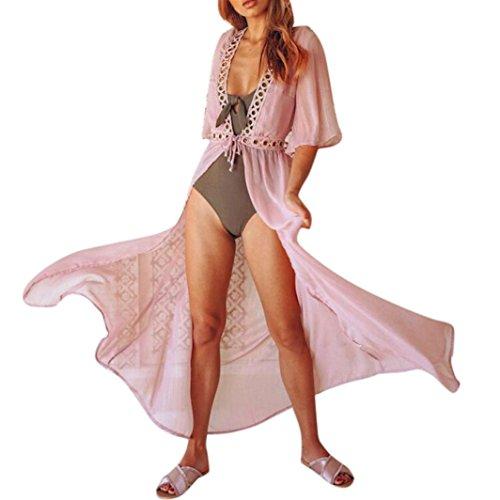 lungo donna Bikini da abito Copricostume costumi donna Abiti estate vestito donna beautyjourney da Costumi bagno Donna vestiti mare lungo bagno estivo da lungo Rosa donna elegante pizzo da7nqaw8TY