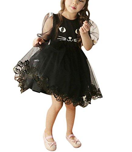 black cat face dress - 2