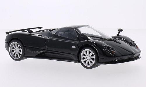 pagani-zonda-f-black-carbon-0-model-car-ready-made-motormax-124
