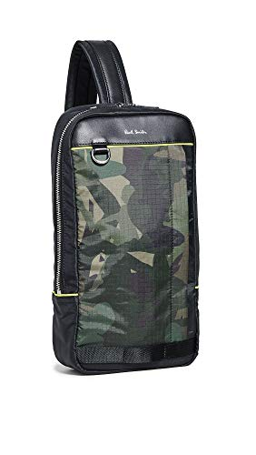 Paul Smith Men's Camo Sling Pack, Camo, Green, Print, One Size