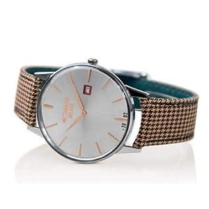 Watchmaker Milano – Reloj de Pulsera para Hombre, Estilo Vintage, de Cuarzo, con Correa de Tela, Hecho a Mano