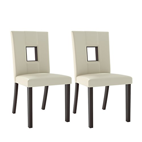 CorLiving Bistro Dining chairs, Cappuccino, White