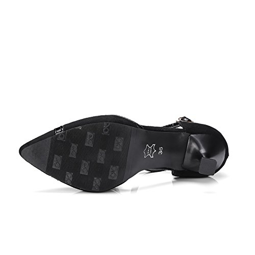 SLC04244 AdeeSu Noir Compensées Sandales Femme Pxx18vw